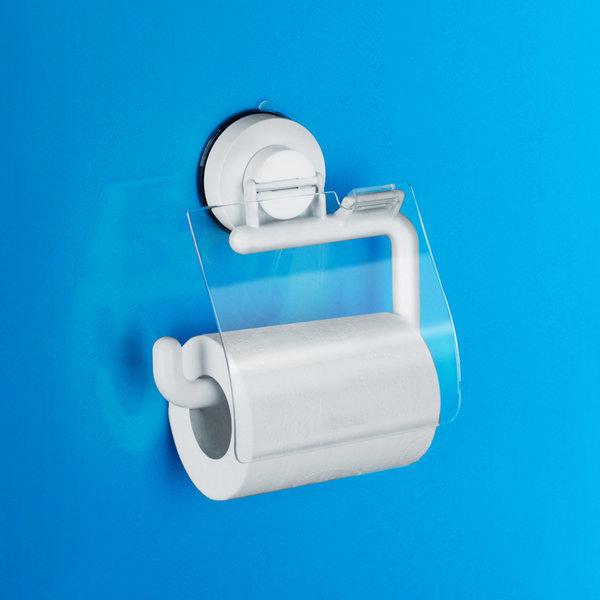화이트 휴지걸이R 커버 화장지걸이 흡착용품 욕실용품 상품이미지