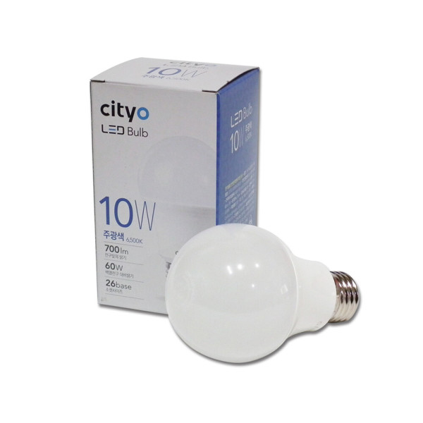 LED전구 10W(씨티)-주광색 /LED조명/엘이디전구/전구 상품이미지