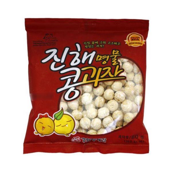 구운 진해 콩 과자 20봉 경화당 제과 스낵 어린이 상품이미지