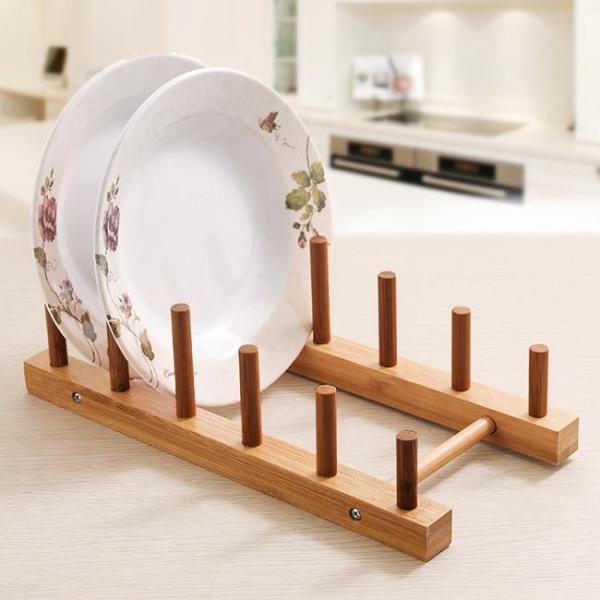 대나무 접시 건조대(28cm) 선반 대나무선반 대나무 상품이미지