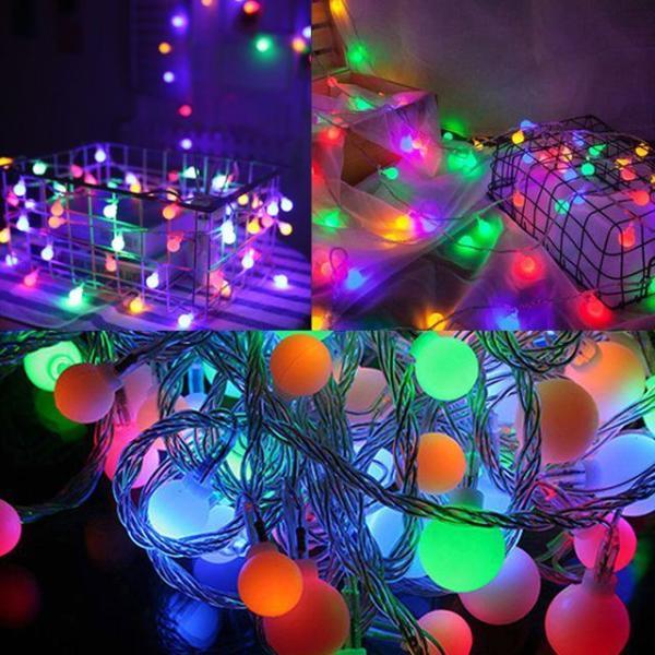 32구 투명선 LED 눈결정 이색칼라전구(3.1M) (점멸 상품이미지