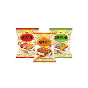팬케이크+종합모나카+종합과자(3봉지묶음) (총 75개입)