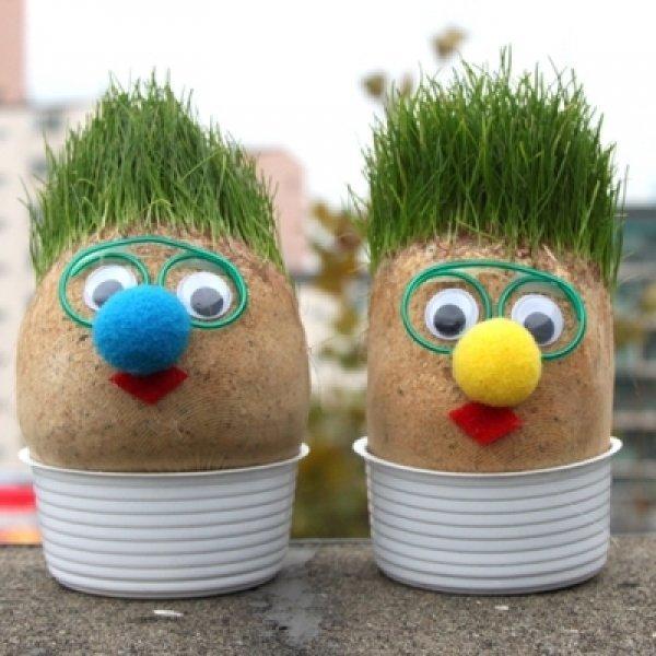 공기정화 자연가습 원예 스머프 잔디인형 상품이미지