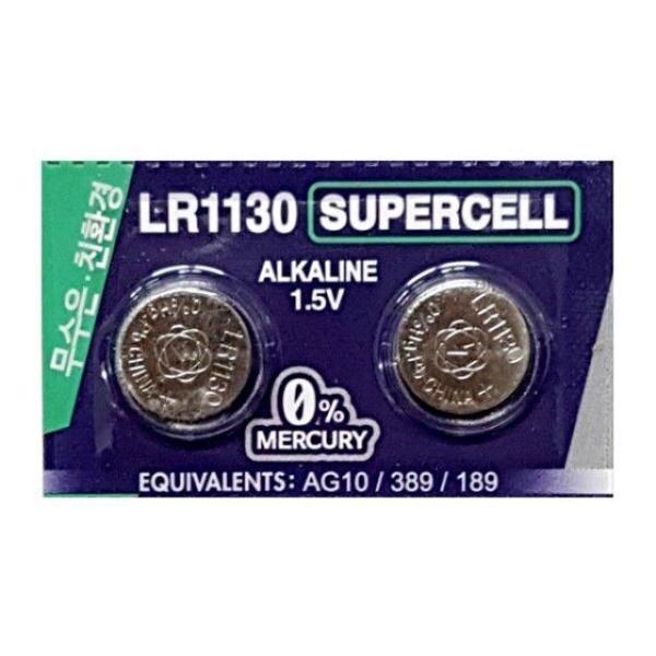슈퍼셀 무수은전지 LR1130(10알) 1.5V 알카라인건전 상품이미지