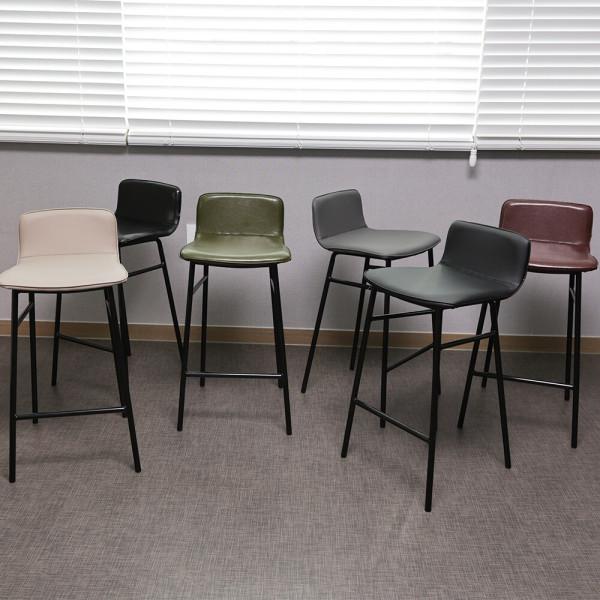 심플 바텐 바의자 아일랜드 철제 홈바 체어 카페 의자 상품이미지