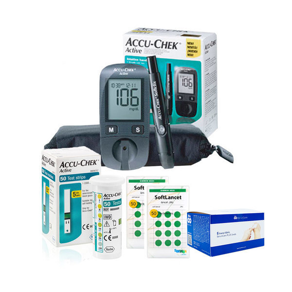 NEW 액티브 혈당측정기 시험지60+호환침110+솜100+수첩 상품이미지