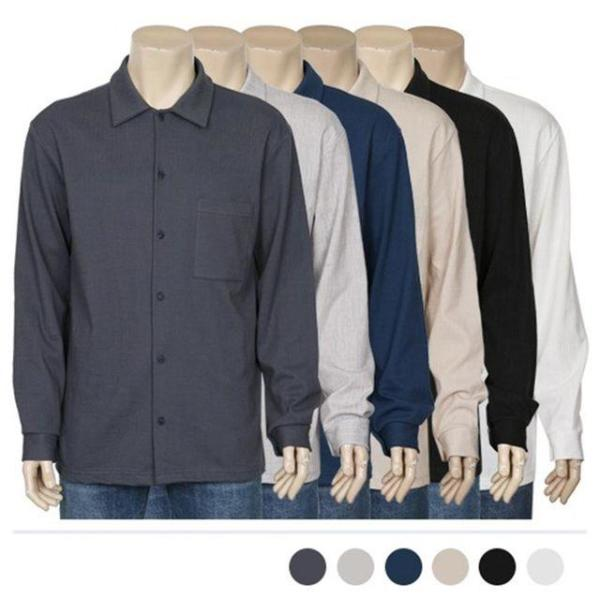 남자셔츠 그레이 가슴선 차이나카라 셔츠 J0416017 상품이미지