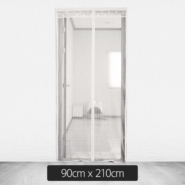 촘촘망 현관형 방문 자석 모기장 화이트 90cm x 210cm 상품이미지