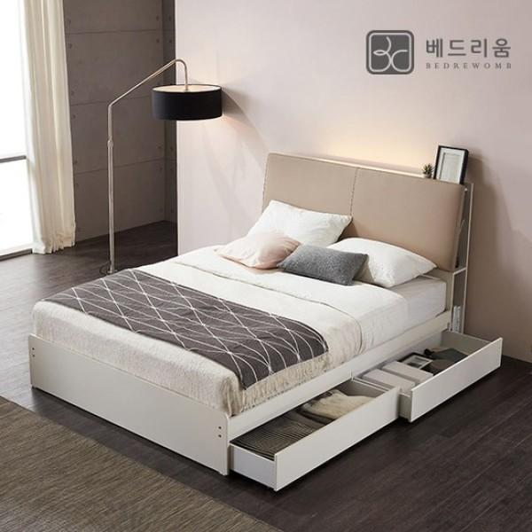 베드리움 수납 슈퍼싱글 서랍 침대+독립 매트리스 상품이미지