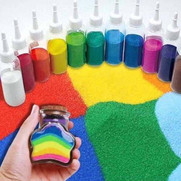 색모래(1개) 칼라모래 색깔모래 만들기재료 꾸미기 상품이미지