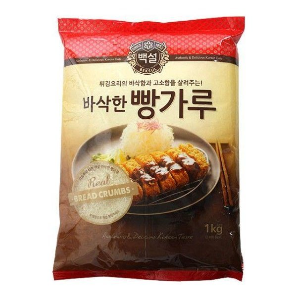 CJ백설 바삭한빵가루1kg 백설 치킨 튀김가루 부침가 상품이미지