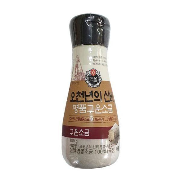 CJ백설 오천년(구운소금용기)180g 꽃소금 소금 맛소 상품이미지