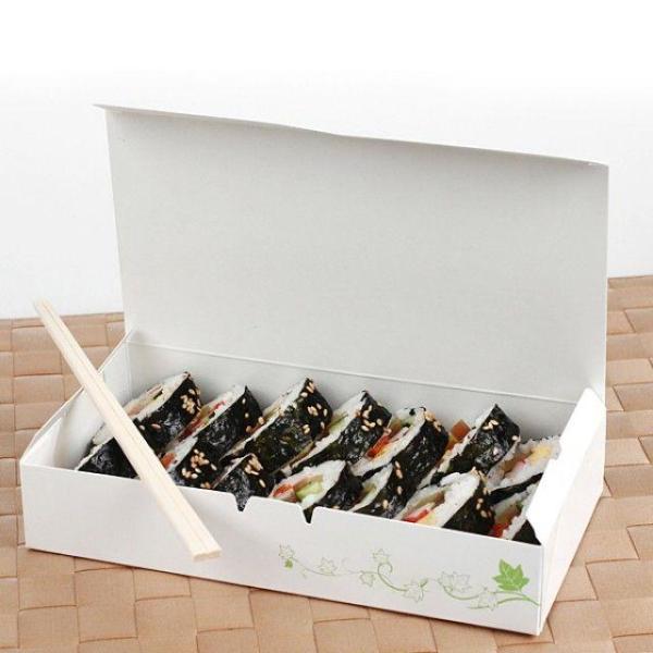 해우 종이도시락7매 일회용품 소풍 등산 도시락통 상품이미지