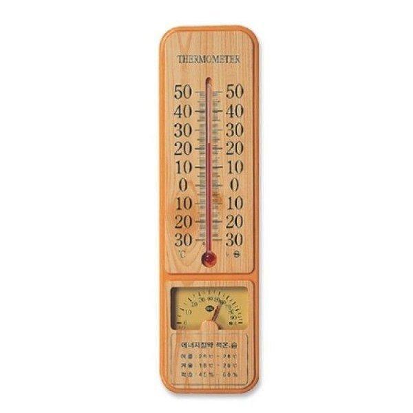 포비)온습도계(막대고정형 나무무늬) 상품이미지
