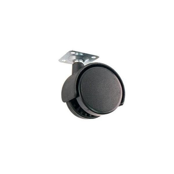 바퀴(가구바퀴  PVC 42mm 블랙  스톱레버) 저렴 튼 상품이미지