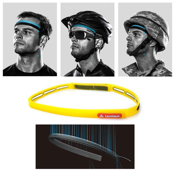런웨이브 실리콘 스워트 밴드 스포츠 헤어밴드 옐로우 상품이미지