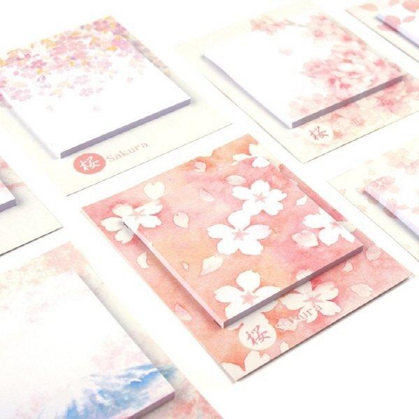 (해외) 문구 벚꽃 포스트 잇 8 가지 상품이미지