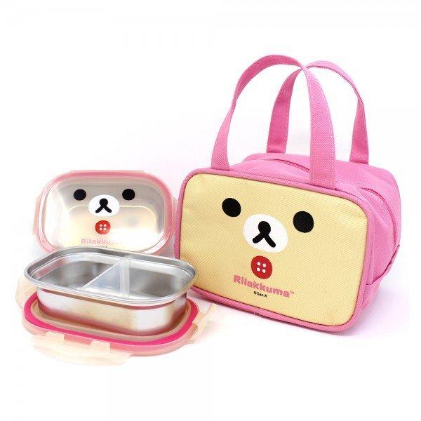 리락쿠마 스텐2단가방도시락 핑크 상품이미지