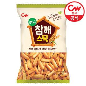 청우 미니 참깨스틱 370g/과자/쿠키/스낵/간식