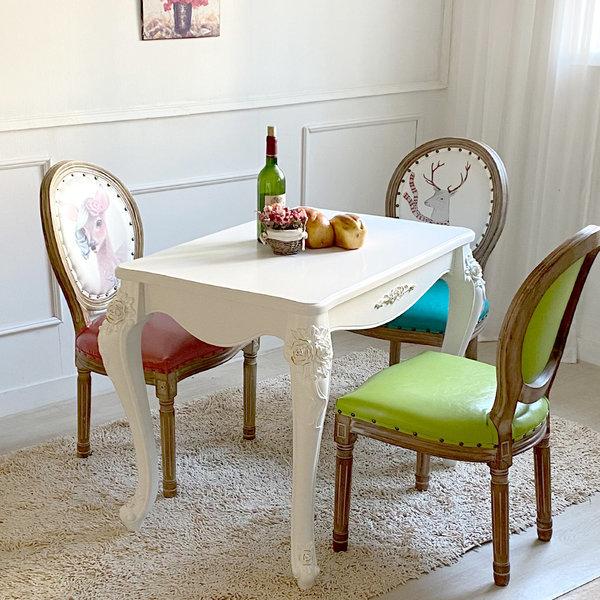 비앙카식탁 2인용 4인 테이블 2인 의자 4인용 상품이미지