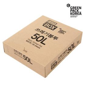 이지박스 쓰레기봉투 50L 50매입 백색 /비닐봉투 / S