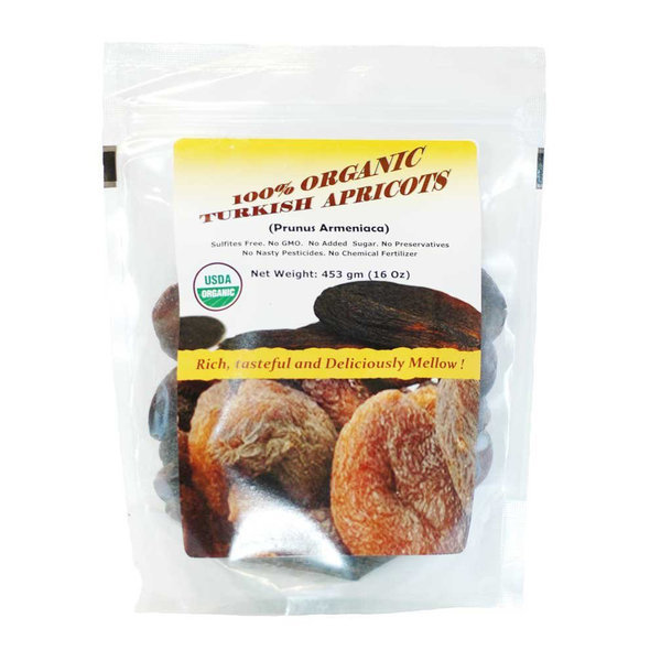 Indus Organics Dried Apricots 터키 건살구 453g 3팩 상품이미지