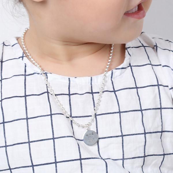 실버 미아방지목걸이팔찌 유아강아지이니셜순은목걸이 상품이미지
