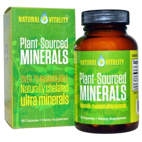 Natural Vitality. 플랜트-소스드 미네랄. 60 캡슐 상품이미지
