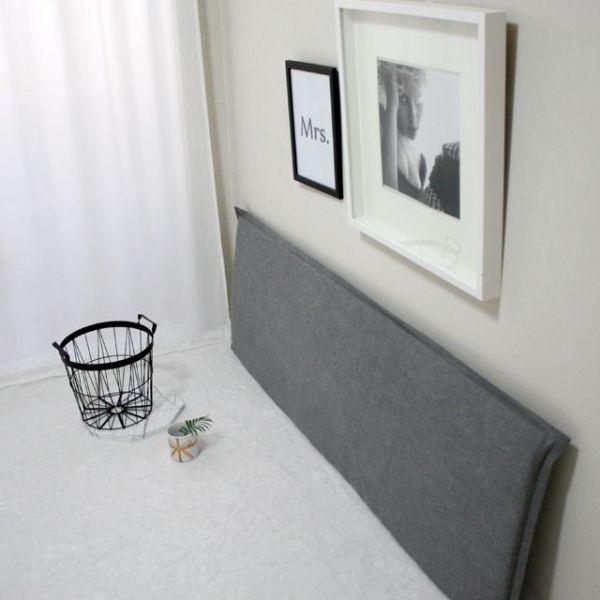싱글:워싱린넨 범퍼헤드쿠션-2color(솜포함) 상품이미지