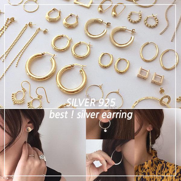 실버925 귀걸이 모음 이어링 은 볼 펄 큐빅 상품이미지