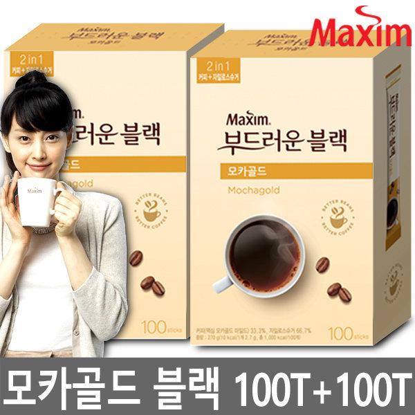 맥심 블랙커피/부드러운블랙 모카 200T/커피/프림NO 상품이미지
