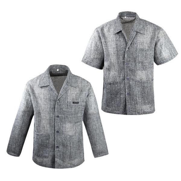 (여름)인견마셔츠 린넨반팔긴팔남방 남자시원한작업복 상품이미지