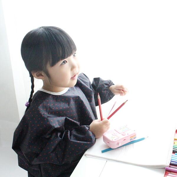 (현대Hmall) 소아베 네이비 레드도트 유아 전신미술가운 바보사랑 상품이미지
