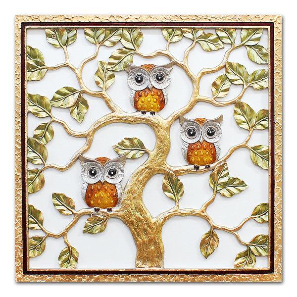 인테리어 부조 장식 벽걸이 그림 액자 부엉이나무(대) 상품이미지