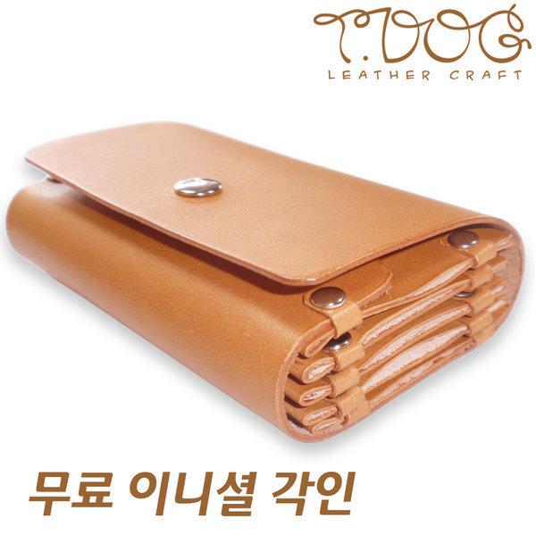 티독 카드케이스 수공예 카드지갑 이니셜 카드홀더 상품이미지
