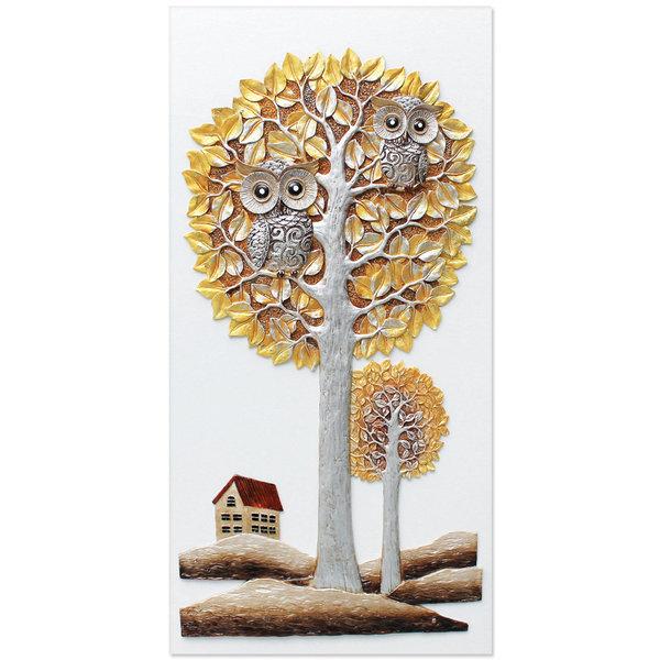 인테리어 부조 장식 벽걸이 그림 액자 부엉이집(대) 상품이미지