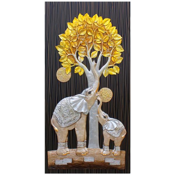 인테리어 부조장식 벽걸이 그림액자 돈나무코끼리(대) 상품이미지