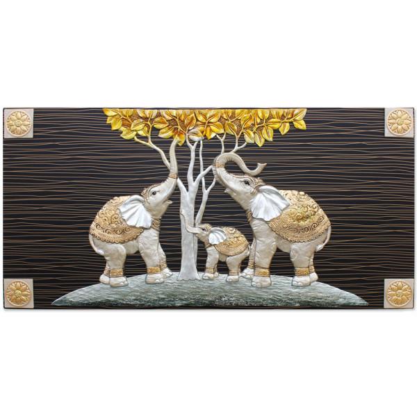 인테리어 벽걸이 장식 그림액자 돈나무가족코끼리(대) 상품이미지