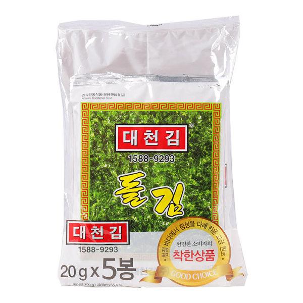 대천김_대천김돌김_100G 20Gx5봉 상품이미지