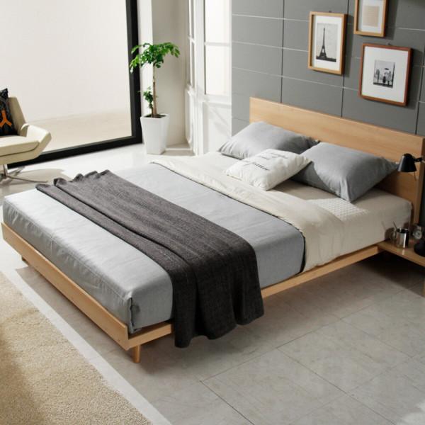 하루 평상형 침대 퀸+포켓 양면 매트리스 상품이미지