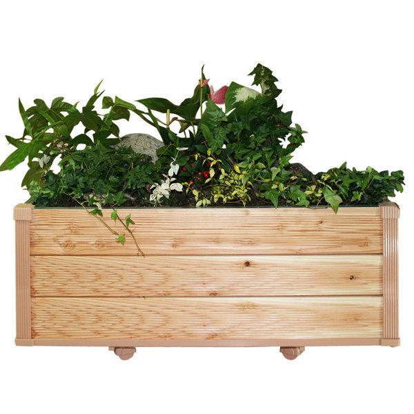 DIY 실내이동식 원목 화분 대형 와이드 3단  작은정원 상품이미지