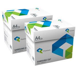 [삼성물산]삼성 A4 복사용지 A4용지 복사지 75g 2BOX
