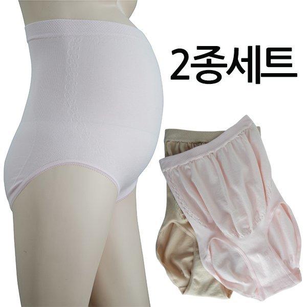 (모띠마마(MUTTI MAMA)) 임산부 무봉제 거들팬티 2종세트 복대형/수유런닝/임부속옷 상품이미지