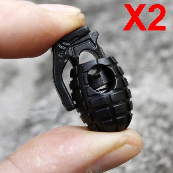 수류탄 등산화 신발끈 결속기 2개-운동화 매듭 고정 상품이미지