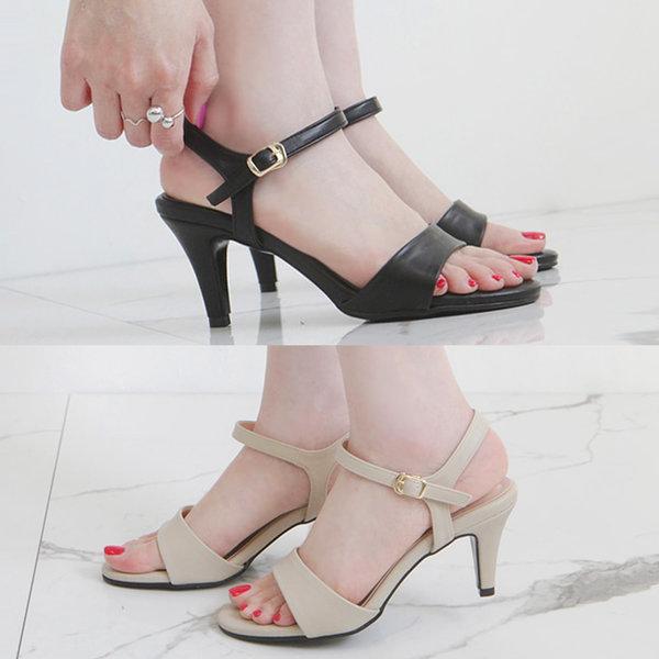 7cm스트랩샌들 미들힐 여름 여성 펌프스 신상 구두 상품이미지