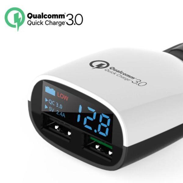 LED USB듀얼 차량 고속충전기 배터리 전압체크/QC 3 상품이미지