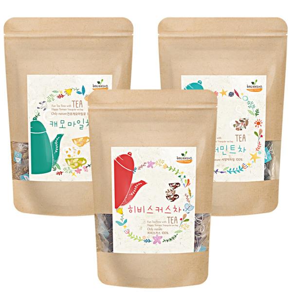 캐모마일 레몬밤 페퍼민트 라벤더 루이보스차 100티백 상품이미지