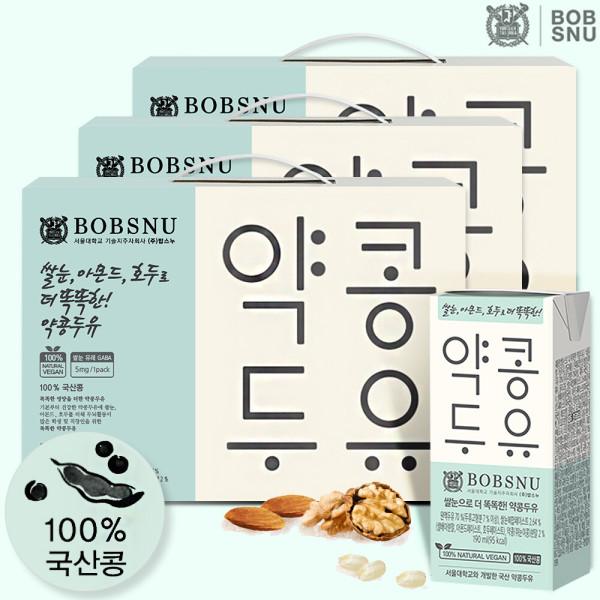 서울대공동개발 똑똑한약콩두유 190ml x 24팩 3세트 상품이미지