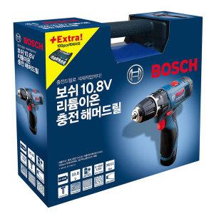 [보쉬]보쉬 10.8V 리튬이온 충전해머드릴 100p 액세서리포함