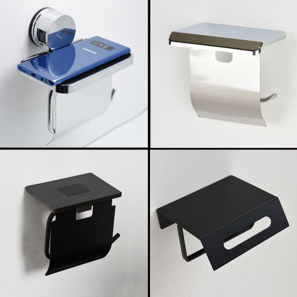 원터치 선반형 휴지걸이 화장실 욕실 핸드폰거치대 상품이미지